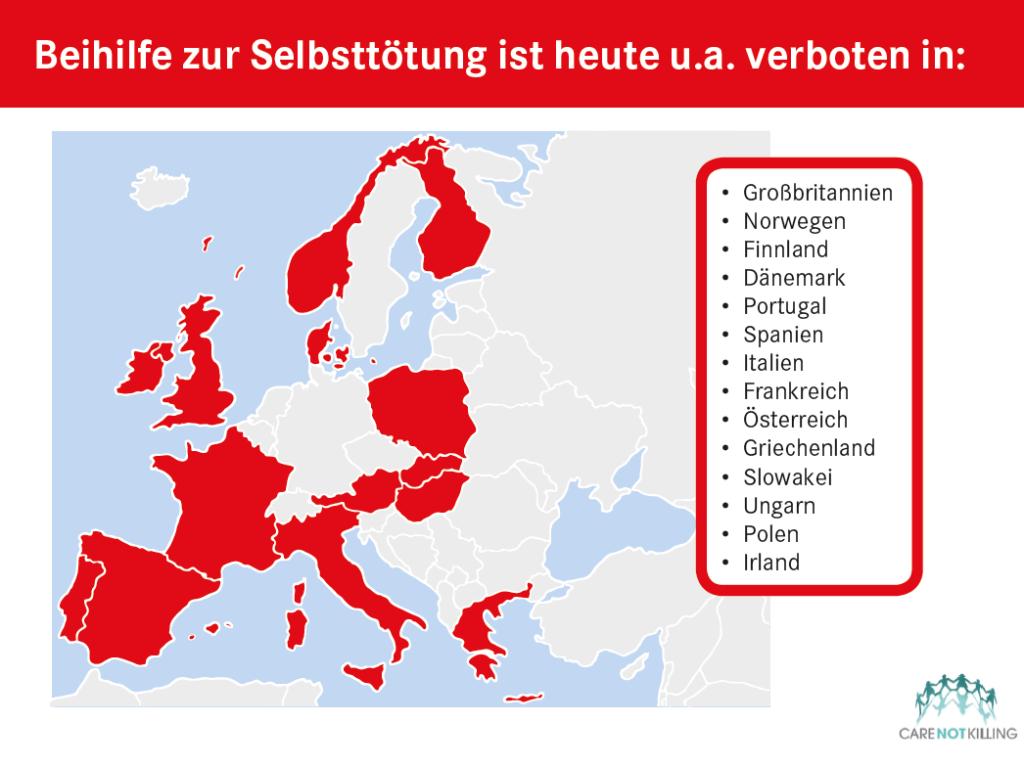 Mehrheit der EU gegen assistierten Suizid